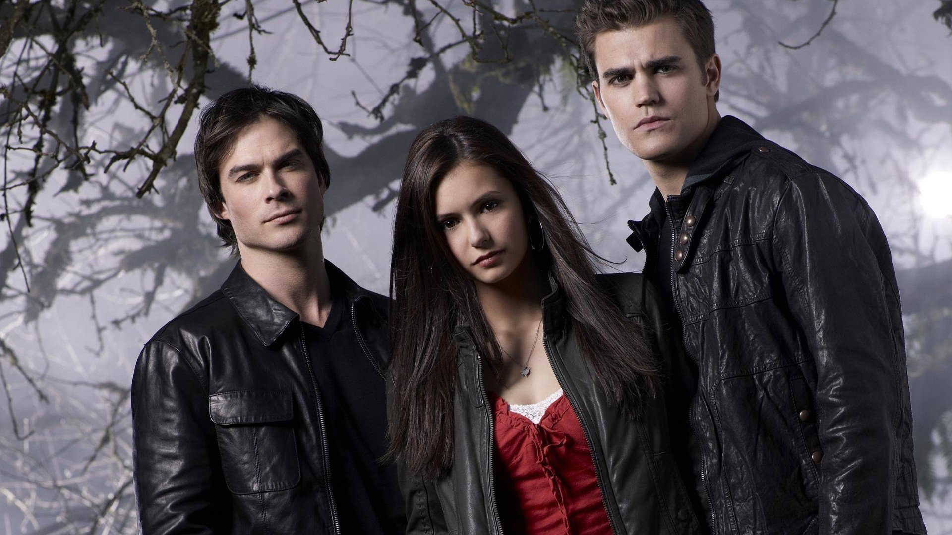 Pamietniki wampirow, The Vampire Diaries 054 Ian Somerhalder, Nina Dobrev, Paul Wesley