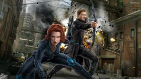 Avengers Age of Ultron 038 Black Widow, Hawkeye