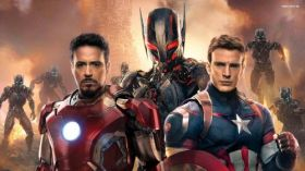 Avengers Age of Ultron 056 Captain America, Chris Evans, Robert Downey Jr., Iron Man