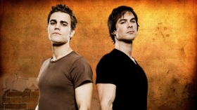 Pamietniki wampirow, The Vampire Diaries 015 Paul Wesley jako Stefan Salvatore, Ian Somerhalder jako Damon Salvatore