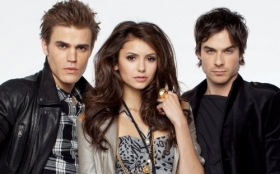 Pamietniki wampirow, The Vampire Diaries 021 Paul Wesley, Nina Dobrev, Ian Somerhalder