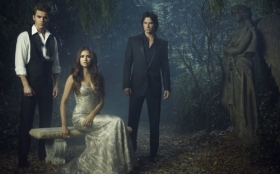Pamietniki wampirow, The Vampire Diaries 022 Paul Wesley, Nina Dobrev, Ian Somerhalder