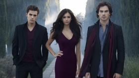 Pamietniki wampirow, The Vampire Diaries 024 Paul Wesley, Nina Dobrev, Ian Somerhalder