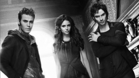 Pamietniki wampirow, The Vampire Diaries 025 Paul Wesley, Nina Dobrev, Ian Somerhalder