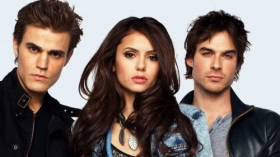 Pamietniki wampirow, The Vampire Diaries 026 Paul Wesley, Nina Dobrev, Ian Somerhalder