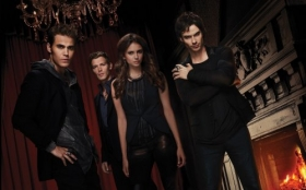 Pamietniki wampirow, The Vampire Diaries 033 Paul Wesley, Joseph Morgan, Nina Dobrev, Ian Somerhalder