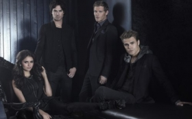 Pamietniki wampirow, The Vampire Diaries 037 Nina Dobrev, Ian Somerhalder, Joseph Morgan, Paul Wesley