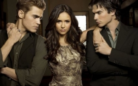 Pamietniki wampirow, The Vampire Diaries 038 Stefan Salvatore, Elena Gilbert, Damon Salvatore