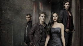 Pamietniki wampirow, The Vampire Diaries 039 Joseph Morgan, Paul Wesley, Nina Dobrev, Ian Somerhalder