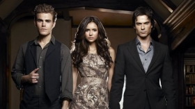 Pamietniki wampirow, The Vampire Diaries 052 Paul Wesley, Nina Dobrev, Ian Somerhalder