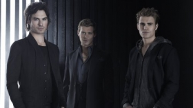 Pamietniki wampirow, The Vampire Diaries 056 Ian Somerhalder, Joseph Morgan, Paul Wesley