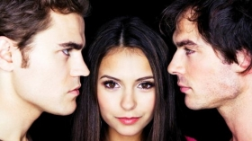 Pamietniki wampirow, The Vampire Diaries 057 Paul Wesley, Nina Dobrev, Ian Somerhalder