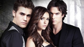 Pamietniki wampirow, The Vampire Diaries 060 Paul Wesley, Nina Dobrev, Ian Somerhalder