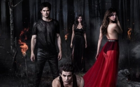 Pamietniki wampirow, The Vampire Diaries 065 Ian Somerhalder, Paul Wesley, Nina Dobrev