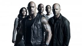 Szybcy i wsciekli 8 (2017) The Fate of the Furious 004 Michelle Rodriguez, Dwayne Johnson, Tyrese Gibson, Ludacris, Jason Statham