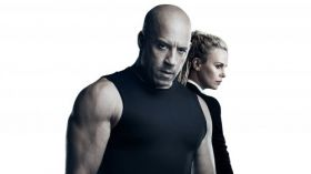 Szybcy i wsciekli 8 (2017) The Fate of the Furious 005 Vin Diesel jako Dominic Toretto, Charlize Theron jako Cipher