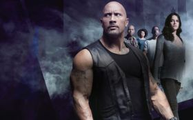Szybcy i wsciekli 8 (2017) The Fate of the Furious 014 Dwayne Johnson, Tyrese Gibson, Nathalie Emmanuel, Ludacris, Michelle Rodriguez