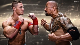 WWE 1920x1080 001 John Cena, The Rock Dwayne Johnson
