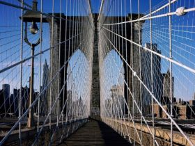 Brooklyn Bridge, New York City, New York - 1600x1200 - ID 41997 - PREMIUM