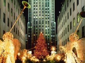 Christmas at Rockefeller Center, New York City, New York - 1600x1200 - ID 35282 - PREMIUM