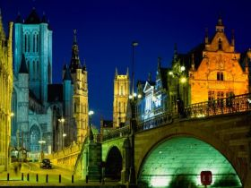 Evening in Ghent, Belgium