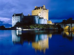Evening Falls on Eilean Donan Castle, Scotland