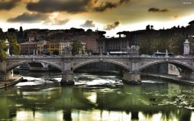 Most Ponte Vittorio Emanuele II Bridge 001 Rzym