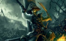 wallpaper pirates of the caribbean armada of the damned 01 2560x1600