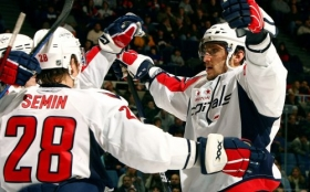 Hokej NHL 2560x1600 004 Semin and Ovechkin