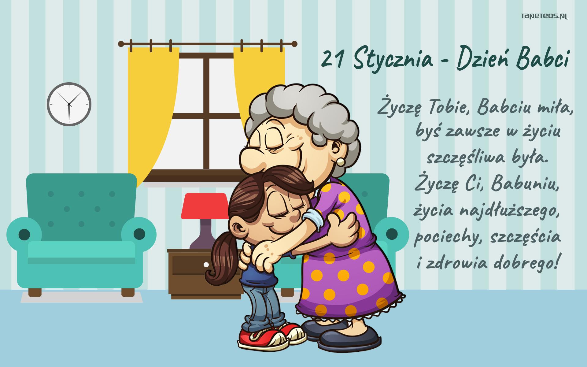 Dzien Babci I Dziadka 014 Dzien Babci 21 Stycznia Zyczenia