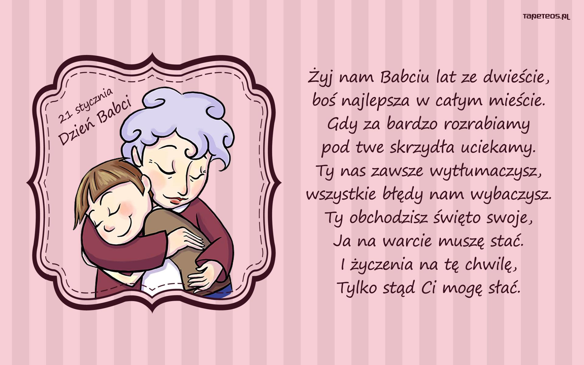 Dzien Babci I Dziadka 019 Kartka Vector Zyczenia Zyj Nam