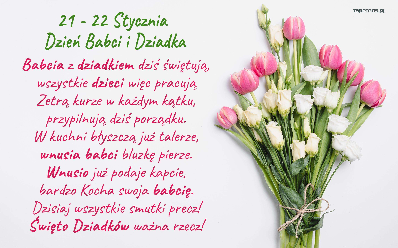 Dzien Babci I Dziadka 023 Zyczenia Bukiet Kwiatow Babcia Z