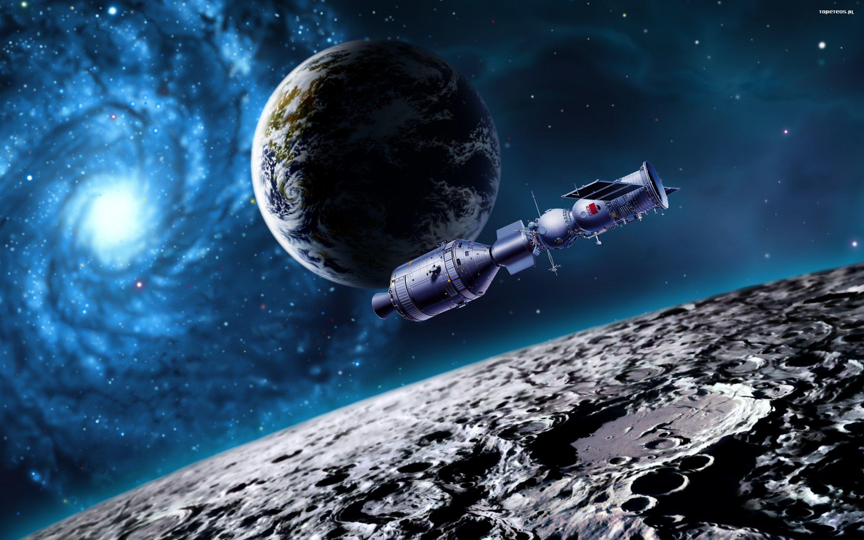 Обои Планета, удар, спутник картинки на рабочий стол на тему Космос - скачать бесплатно
