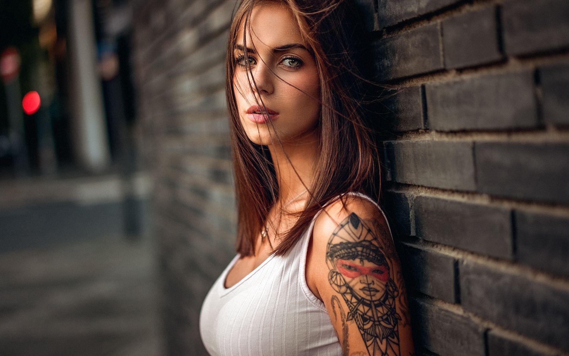 Tatuaze 064 Kobieta Sciana Tapety Na Pulpit