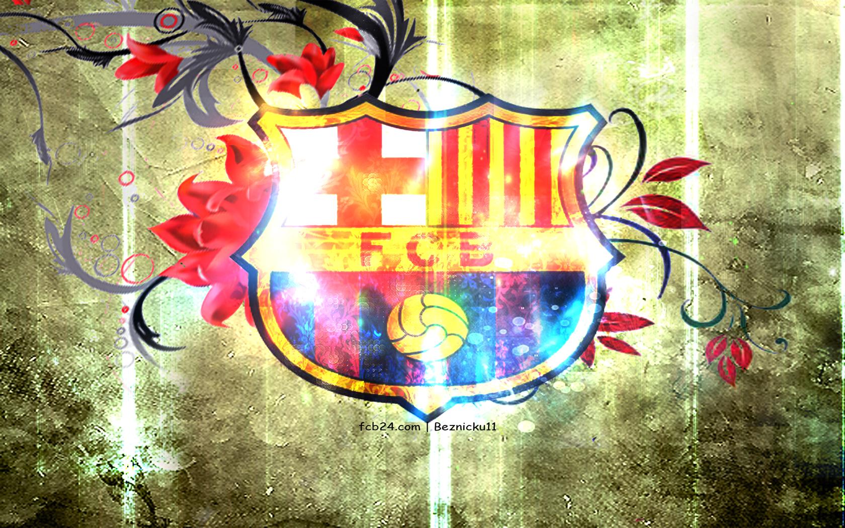 34e9ea3e6 FC Barcelona 1680x1050 011 herb - Tapety na pulpit