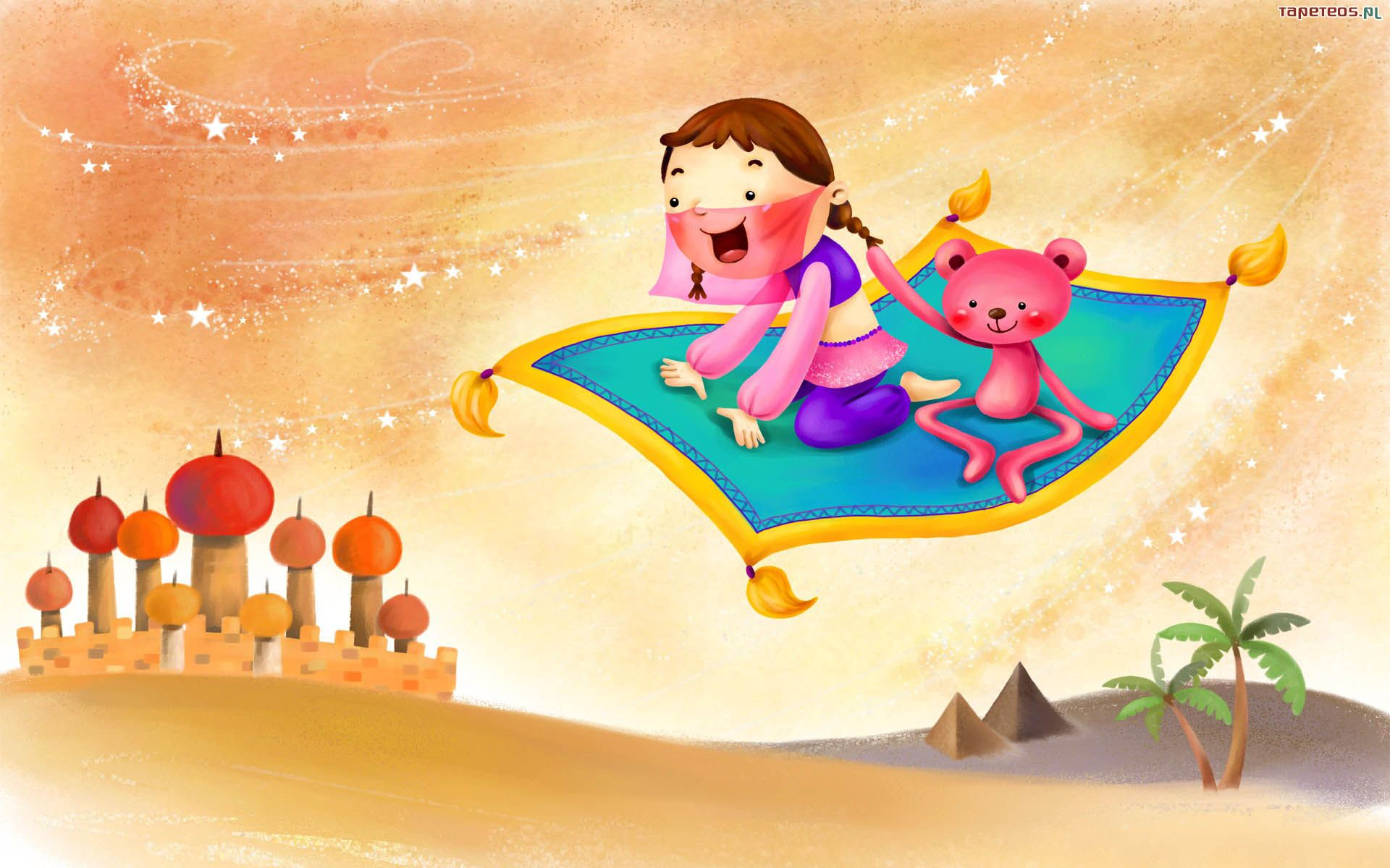 Dla Dzieci 1920x1200 116 Dziewczynka Latajacy Dywan